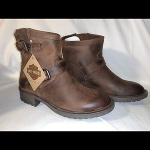 Harley-Davidson Allerton Brown leather boots